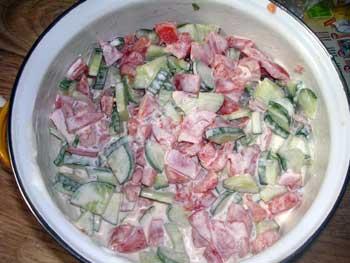 рецепты несложных салатов без майонеза